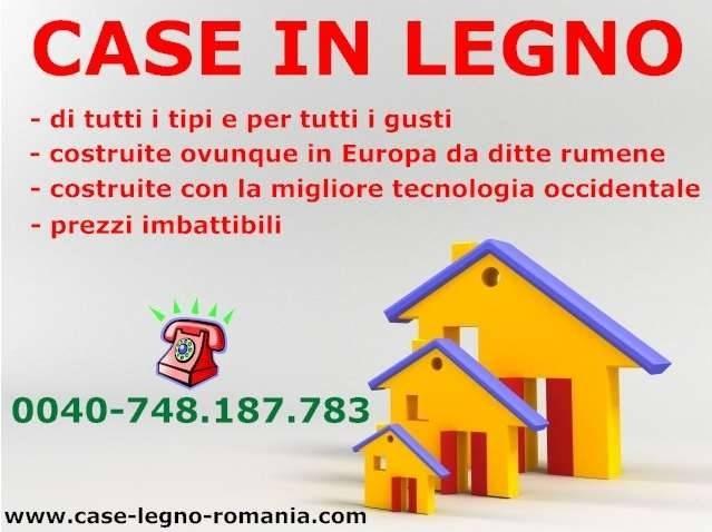 Case in legno produzione romania tecnologia italiana for Case legno romania prezzi